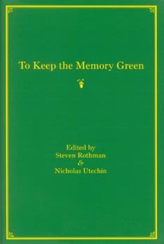 To Keep the Memory Green cover